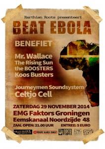 wo 29 nov | BEAT Ebola Benefiet | EMG faktors